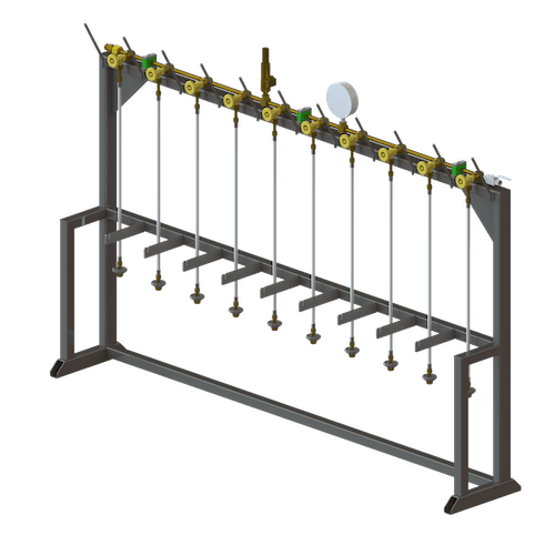 CO2 MODULAR LINEAR MANIFOLD AND STAND SYSTEM