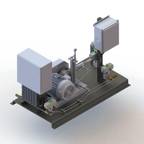 CO2 Modular Pump/Vaporizer Skid Unit - Angle View
