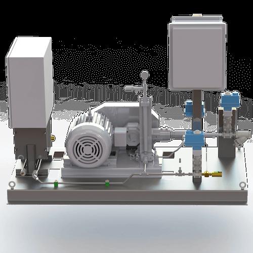 CO2 Modular Pump/Vaporizer Skid Unit - Side View