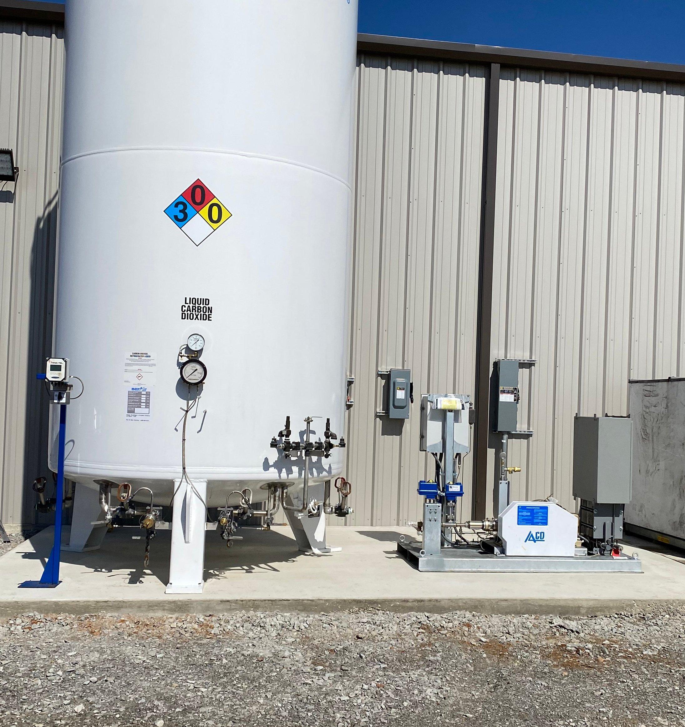 CO2 Modular Pump/Vaporizer Skid Unit On-Site